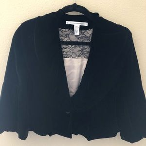 Diane von Furstenberg black cropped jacket